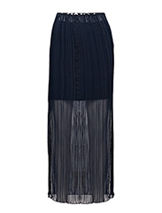Slit pleat skirt - DARK BLUE