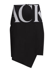 Huge logo elastic woven skirt - black