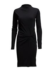 Twist polo dress - BLACK