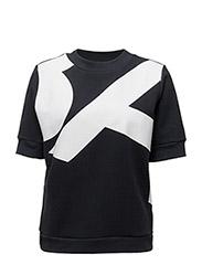 Letter sweat t-shirt - NAVY
