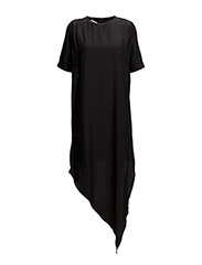 Broken hem dress - BLACK