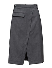 Drunk suiting skirt - CHARCOAL MARL