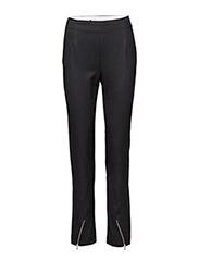 Zip suiting trouser - BLACK