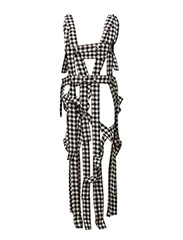 Button strap dress - DOGTOOTH
