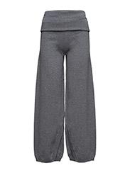 Wrap knit trouser - GREY MARL