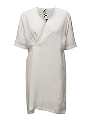 Drunk V-neck dress - CREME