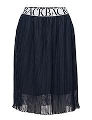 Pleat logo skirt - NAVY