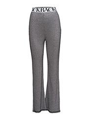 Rib logo trouser - SILVER LUREX
