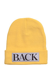 Reflective knitted hat - BRIGHT YELLOW