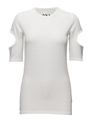 CUT OUT T-SHIRT - OFF-WHITE