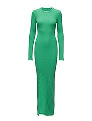 RIB DRESS - GREEN