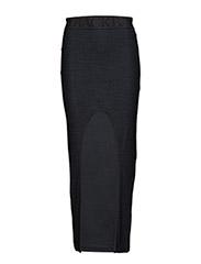 Round logo skirt - BLACK