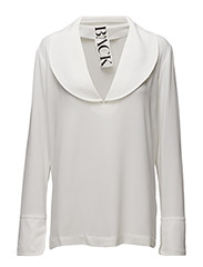 Half B-blouse - WHITE