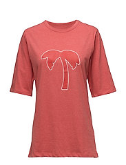 Box T-shirt - RED MELANGE