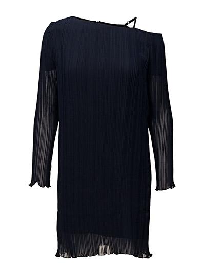 BACK One shoulder pleat dress