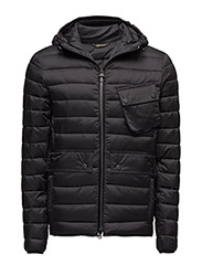 B.Intl Ouston Hooded Quilt - BLACK