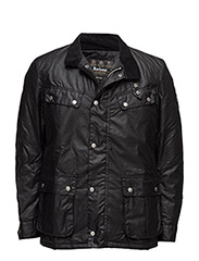 B.Intl Duke Wax Jacket (Tr) - BLACK