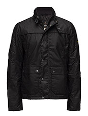 B.Intl Inlet Wax Jacket - BLK/YELLOW