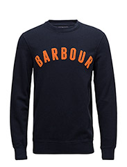 Barbour Prep Logo Crew - NAVY