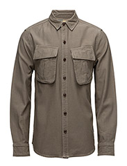 B.Intl Bow Overshirt - MILITARY GREEN