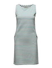 Dalmore Dress - WHITE/TURQUOSE