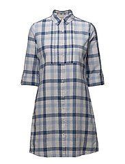 Barbour Bamburgh Dress - WHITE/VICTORIA BLUE