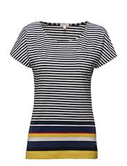 Harewood Stripe Top - YELLOW