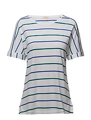Barbour Marloes Top - WHITE/NAUTICAL