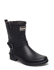 Barbour Biker Buckle Welly - BLACK