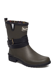 Barbour Biker Buckle Welly - OLIVE