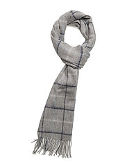 Barbour Country Tattersall Scarf - GREY/BLUE/PINK