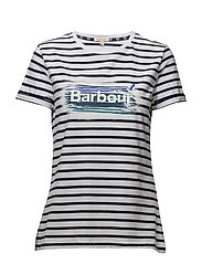 Barbour Dover Tee - WHITE/NAVY
