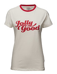 EIRA T-SHIRT - WHITE & RED
