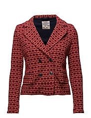 JACEY - RED JACQUARD
