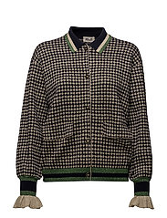 CHRISTIE CARDIGAN - GOLD CHECK