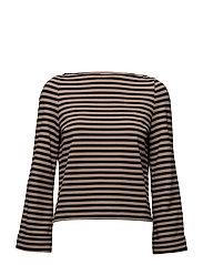 JINNY - TAN/BLACK STRIPE