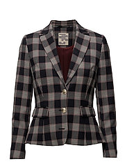 BAMBALINA JACKET - BLUE RED CHECK