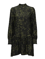 ALIN DRESS - GREEN SPLASH