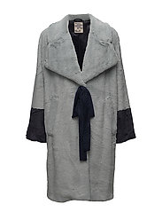 DASHA COAT - DUSTY BLUE