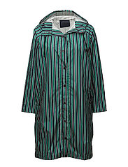 Magpie Striped - PEPPER GREEN