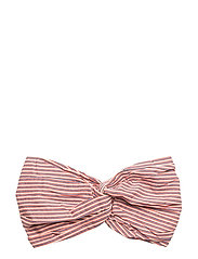Hairband Stripes - HOT CORAL