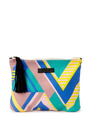 O-Claire Graphic Clutch - Wild green