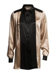 Benedikte silk shirt - Soft rose