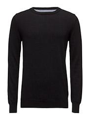 Knit O-neck - Jet Black