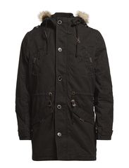 Parka Coat - black