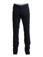 washed chinos - dress blue