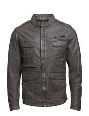Leather Jacket - Pewter