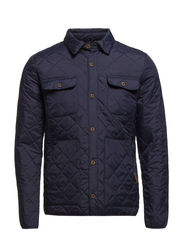 Quilted shirt jacket - Dress Blue