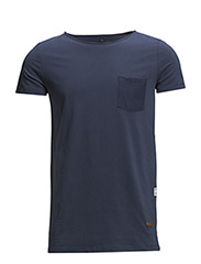 T-shirt with chest pocket - 735 Dark Denim