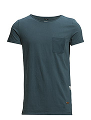 T-shirt with chest pocket - 737 Dark Atlantic